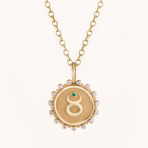 Taurus Pendant Necklace, Necklaces - Marlo Laz