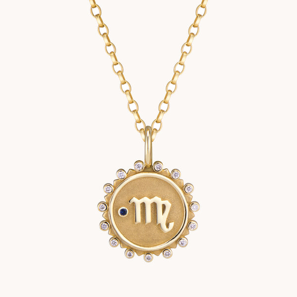 Virgo Pendant Necklace, Necklaces - Marlo Laz