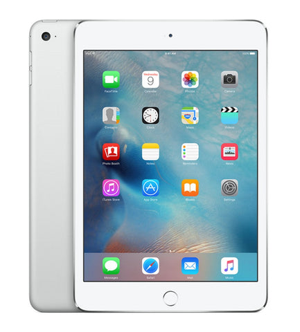 "Apple iPad Mini 4 (Verizon) 7.9"" 128GB Tablet - Silver"