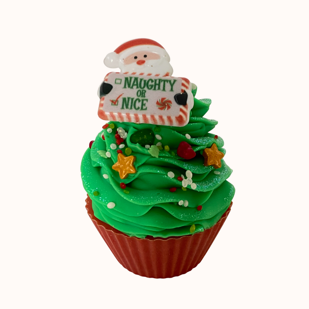 naughty or nice cupcake soap