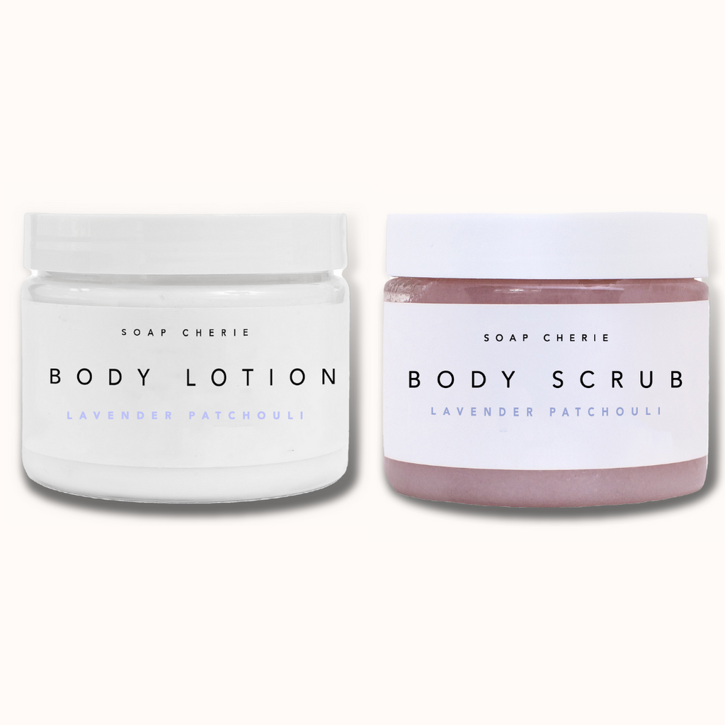 BODY SCRUB & BODY LOTION LAVENDER PATCHOULI