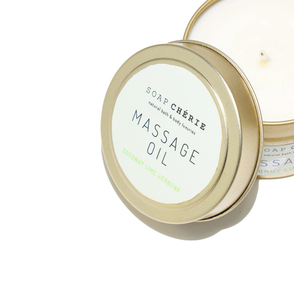 Massage Oil Candle - Coconut Lime Verbana
