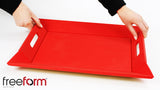 Freeform Tray, Red/Black, Large