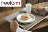 Freeform Tray, Taupe/White, Large