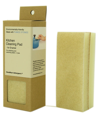 Kitchen Cleaning Pad, Enamel, 2 pcs
