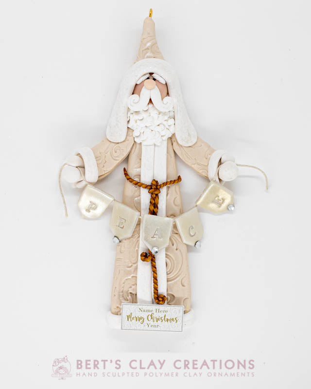 White Christmas - Santa Ornament