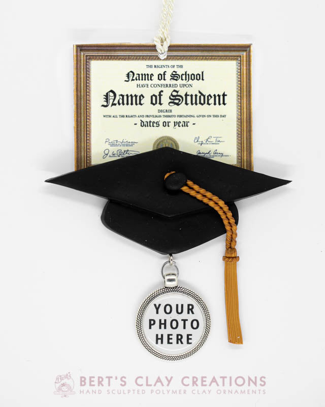 Diploma Photo Ornament