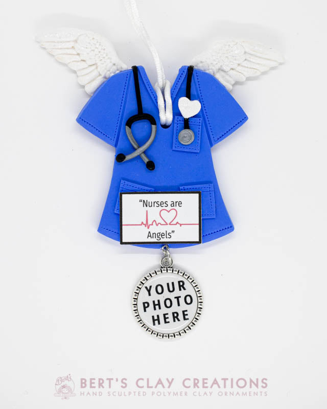 Nurse Angel Photo Ornament