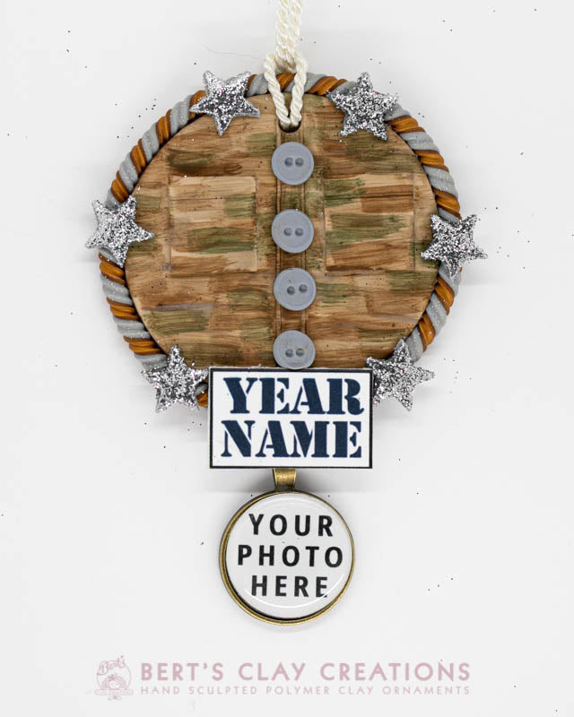 Army Desert Fatigues Photo Ornament