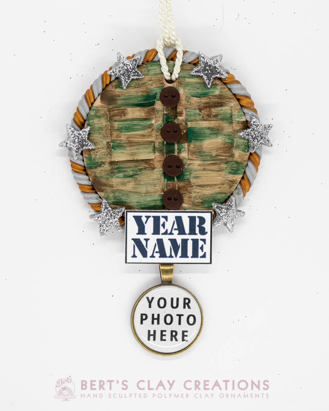 Army Fatigues Photo Ornament