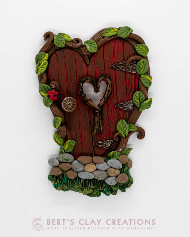 Enchanted Wonderland - Ladybug Fairy Door Ornament
