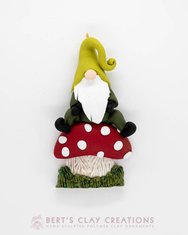 Enchanted Wonderland - Toadstool Gnome Ornament