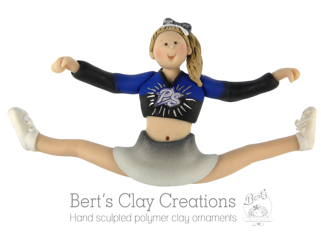 CUSTOM Cheerleader Ornament Submission Quote - Bert's Clay Creations