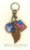 BSA - Personalized Eagle Wing Key Chain with red, white & blue graphics