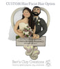 BASIC Bride and Groom Heart Ornament - Bert's Clay Creations
