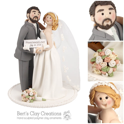 CUSTOM Bride & Groom Cake Topper Submission