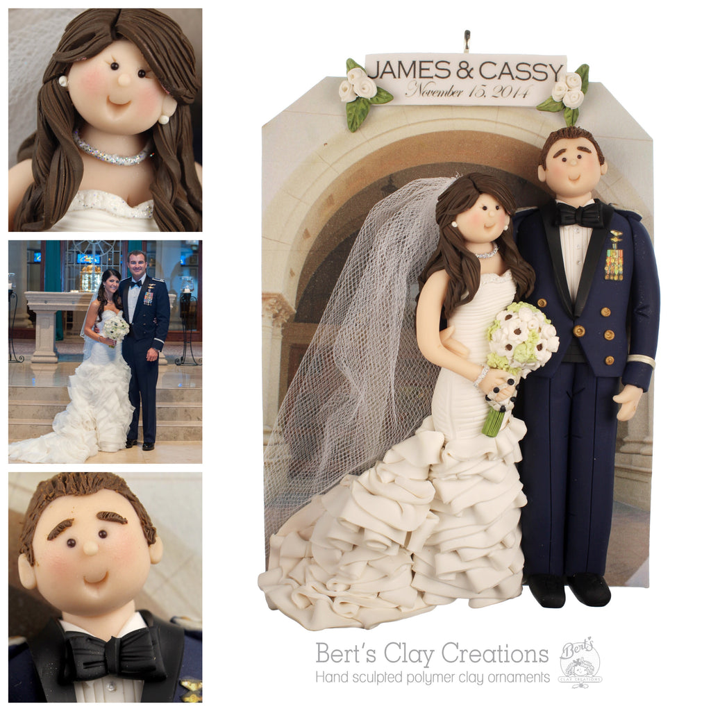 CUSTOM MILITARY Bride & Groom Ornament Submission Quote - Bert's Clay Creations