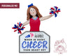 Cheerleader Ornament - Choice of your two colors included
