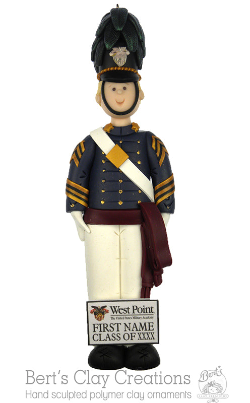 Citadel Cadet Ornament - Bert's Clay Creations