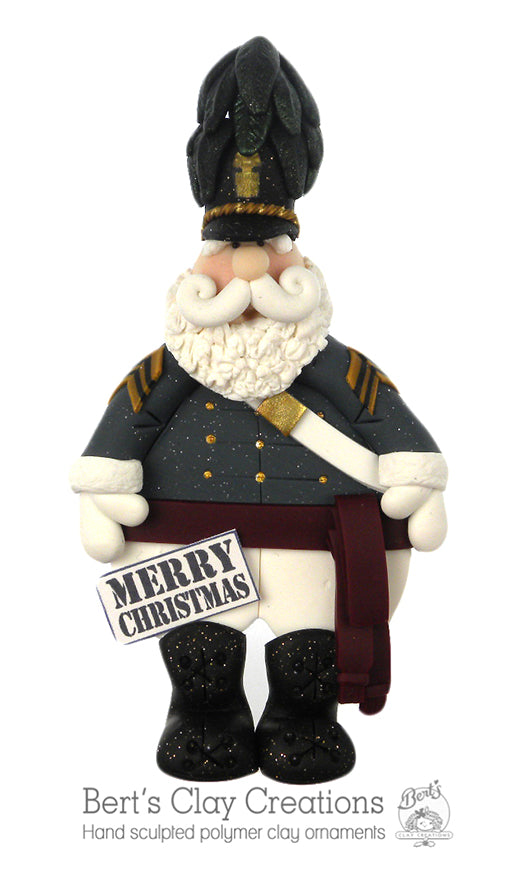 Citadel Santa Ornament - Bert's Clay Creations