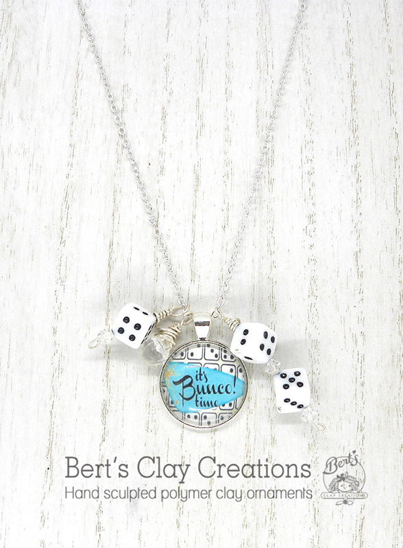 PENDANT - Bunco Themed - Bert's Clay Creations