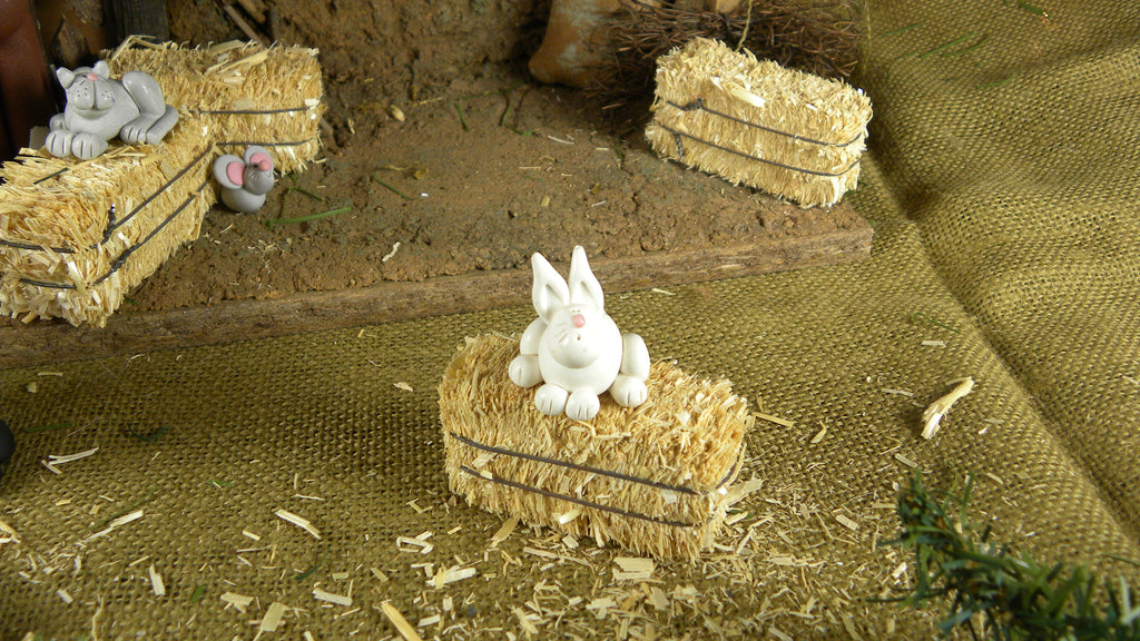 Nativity - Bunny - Bert's Clay Creations