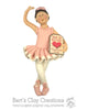 Ballerina Ornament - Bert's Clay Creations