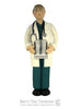 Doctor in Scrubs Ornament - Bert's Clay Creations
