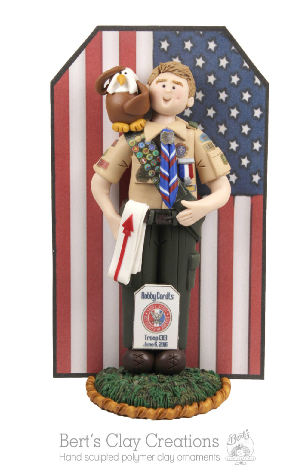 CUSTOM Eagle Scout Cake Topper AND Ornament Hybrid Submission Quote - Bert's Clay Creations