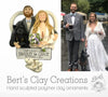 CUSTOM Bride & Groom Heart Bust Ornament Submission Quote - Bert's Clay Creations
