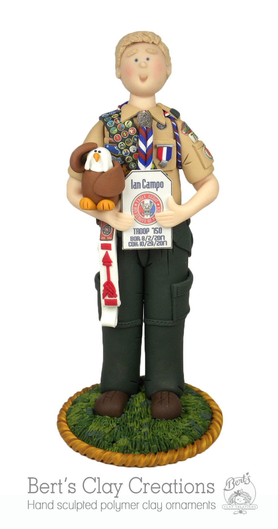 CUSTOM Eagle Scout Cake Topper Submission Quote - Bert's Clay Creations