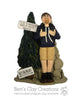 CUSTOM Hiker Backpacker Ornament Submission Quote - Bert's Clay Creations