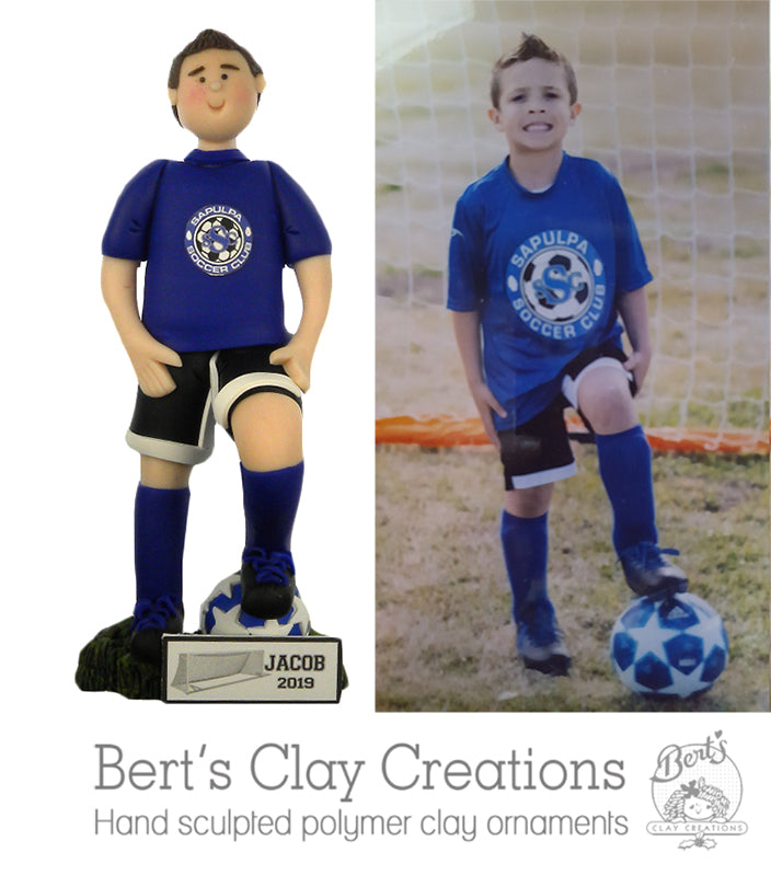 CUSTOM Sport Ornament or Figurine - Bert's Clay Creations