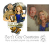 CUSTOM Heart Bust RV or Motor Home Couple Ornament - Bert's Clay Creations