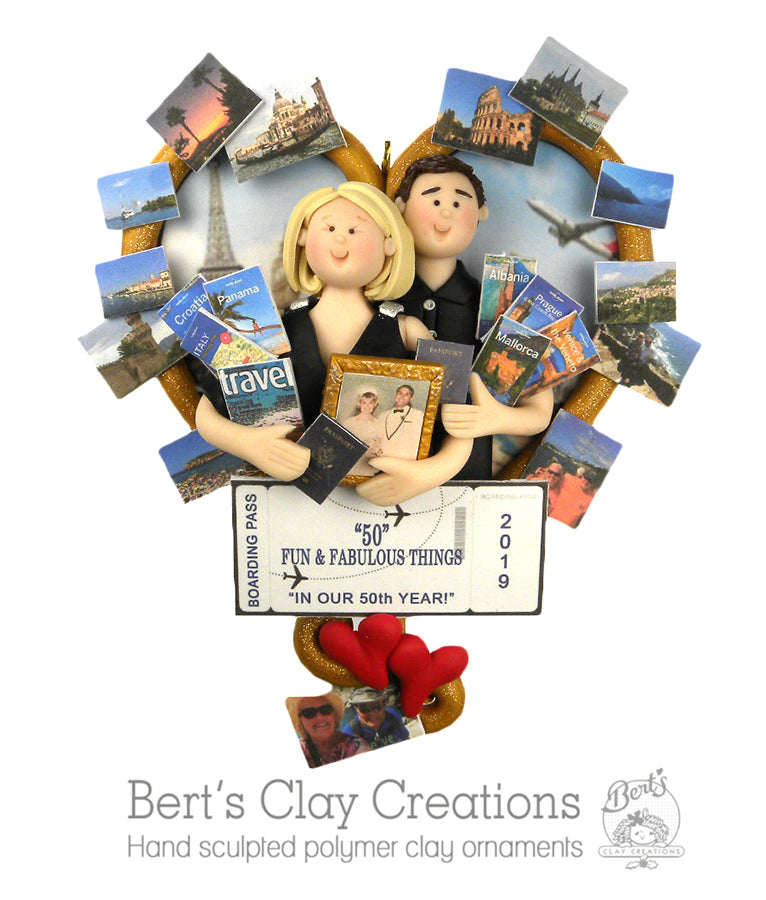 CUSTOM Travel Couple Ornament Submission Quote - Bert's Clay Creations