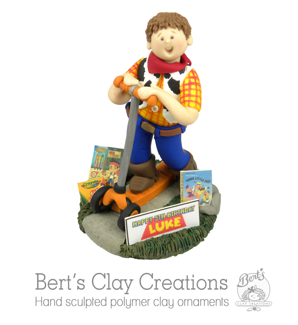 CUSTOM Children's Birthday Cake Topper Submission Quote - Bert's Clay Creations