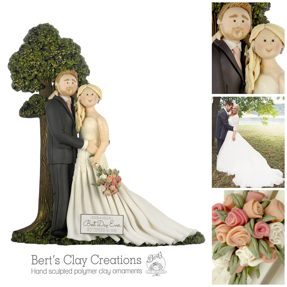CUSTOM BRIDE & GROOM Wedding Ornament Submission Quote - Bert's Clay Creations