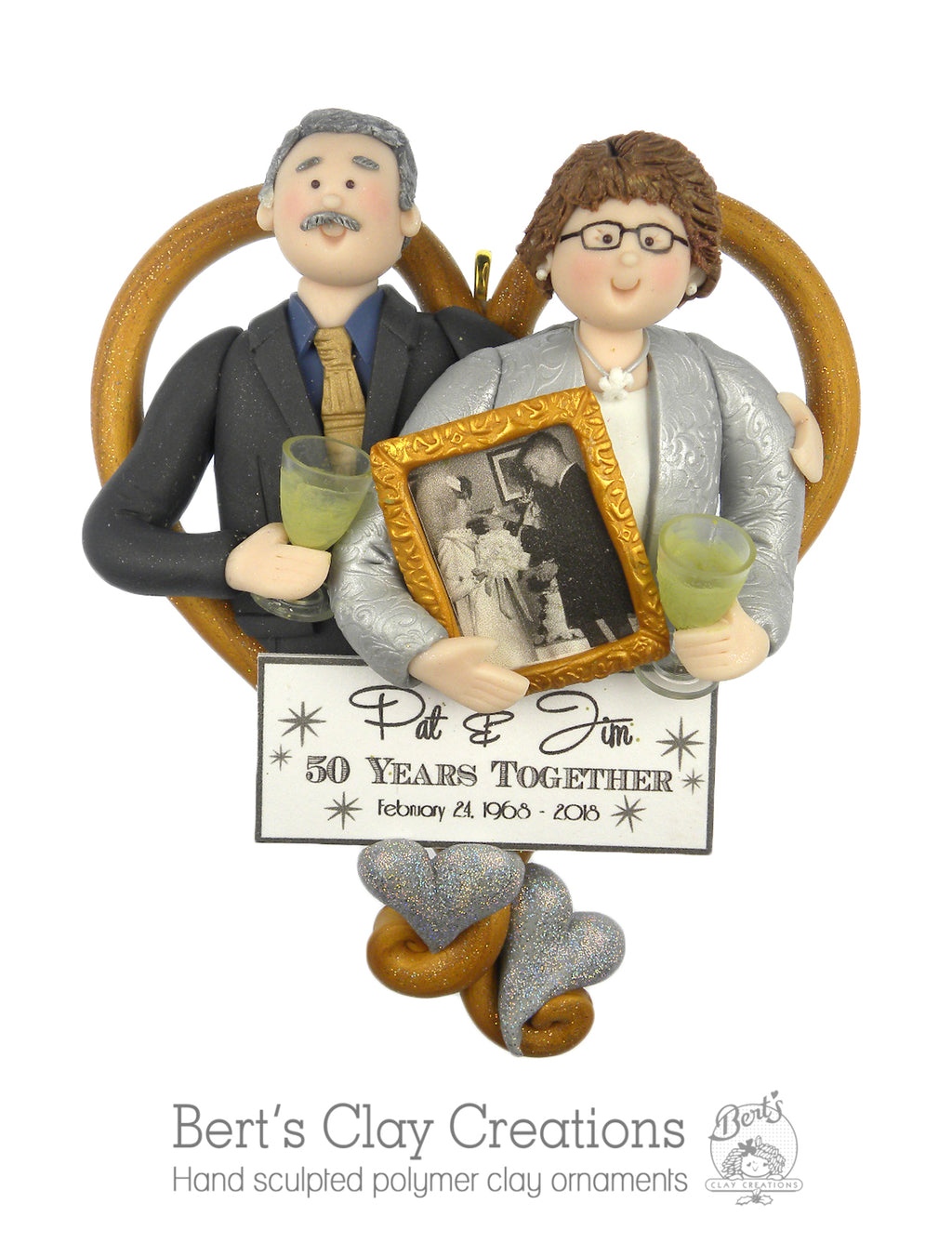 CUSTOM Anniversary HEART Ornament Submission Quote