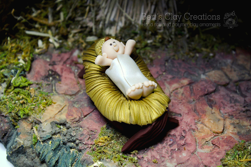 Nativity - Baby Jesus - Bert's Clay Creations