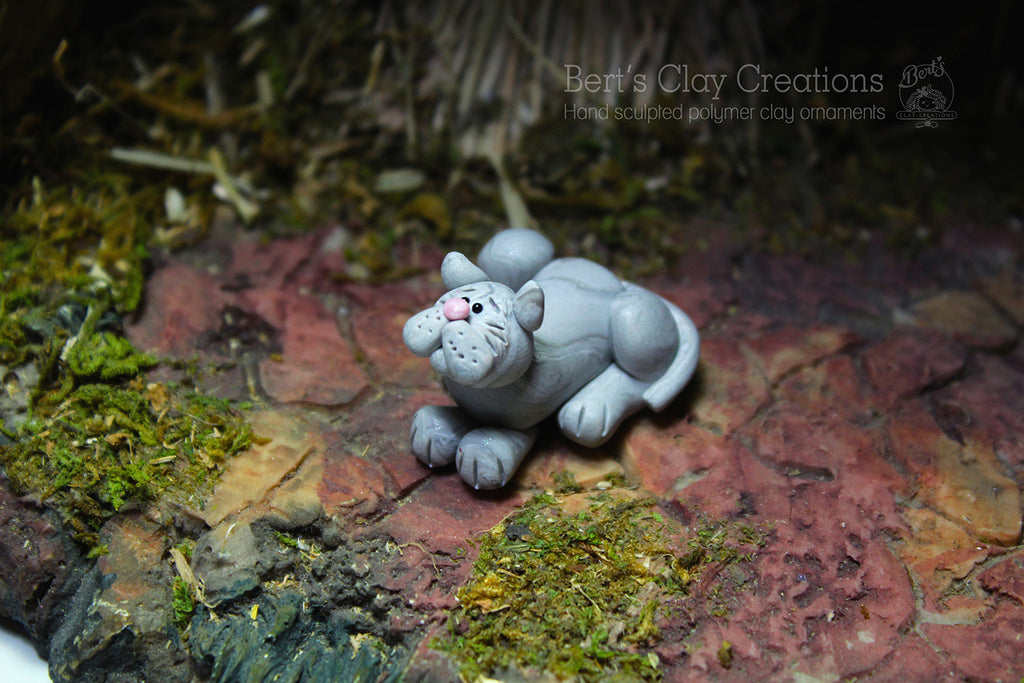 Nativity - Cat - Bert's Clay Creations