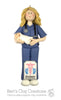 Neonatal Nurse Ornament - Bert's Clay Creations