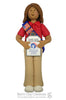 American Heritage Girl PATRIOT Ornament - Bert's Clay Creations