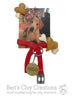 Pet Photo with Personalized Tag Ornament - Bert's Clay Creations