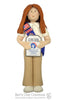 American Heritage Girl PIONEER Ornament - Bert's Clay Creations