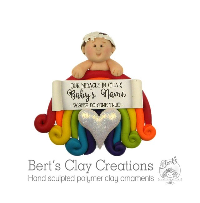 Rainbow Baby Ornament