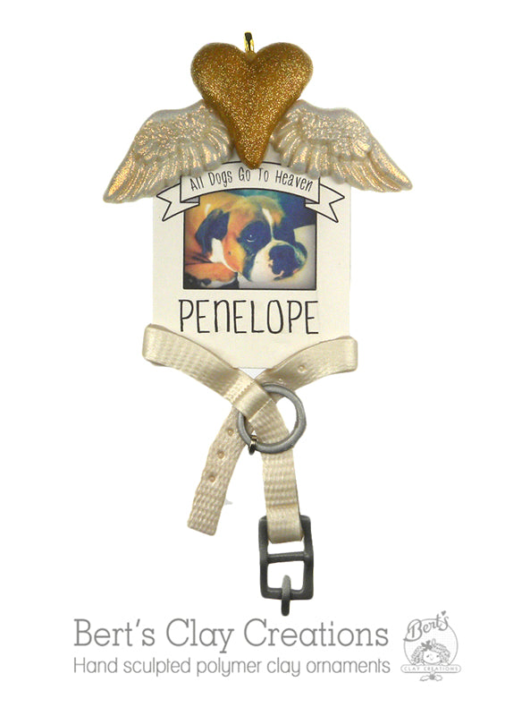 Remembrance Pet Ornament - Bert's Clay Creations