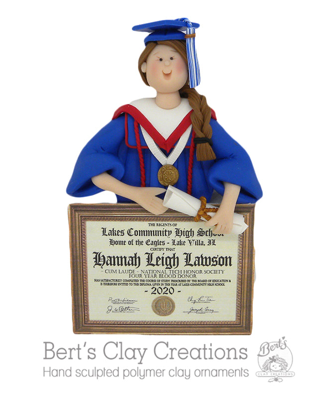 CUSTOM Graduate Bust Ornament Submission Quote - Bert's Clay Creations