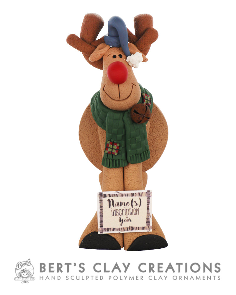 Farmhouse - Rustic Rudolph Ornament