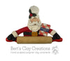 Santa Chef with Personalized Cookbook Ornament - Bert's Clay Creations