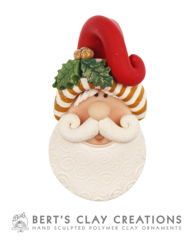 Santa Brooch 2019 - Christmas Colors
